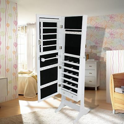 FoxHunter Armoire Jewellery Cabinet Storage Lockable Jewelry With Mirror MJC02