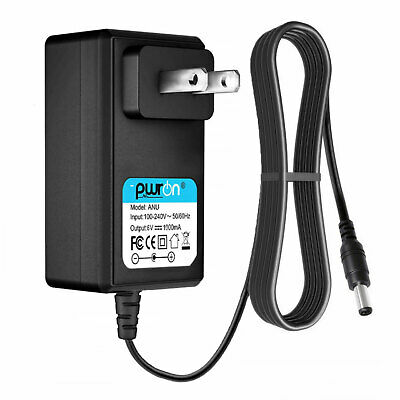 PwrON 6V DC 1A 1000mA AC Adapter Power Supply Charger 5.5mm 2.5mm 2.1mm Plug Tip