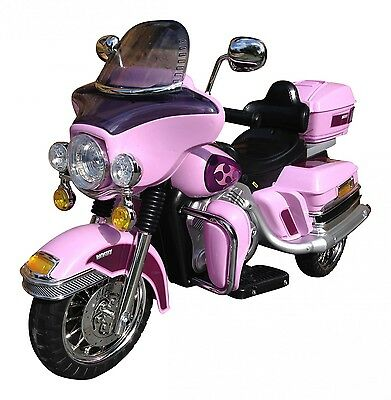 Rocket Cruiser Deluxe Ride On 12v Electric Motorbike - Pink