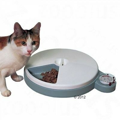 Cat Mate C50 Automatic Pet 5-in-1 Feeder 2 Ice-Pack-Cooled Compartments 5 x 300g
