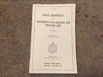 Reprinted WWI Horse Equipments & Cavalry Accoutrements Booklet 1908