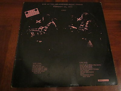 NEIL YOUNG LIVE AT THE LOS ANGELES Unofficial 1972 LP Mega Rare Italy Pressing