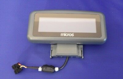 MICROS REAR LCD DISPLAY WS-5 & WS5a P/N 400801-001 W/ WARRANTY RECONDITIONED