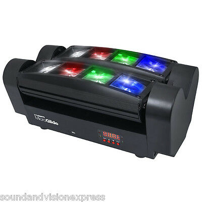 Kam MicroGlide Dual Sweeper Effect DJ Light 2 x 4 Rotating RGBW LED Beams DMX