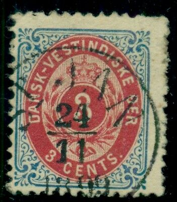 DANISH WEST INDIES #17 (15) 3¢ bicolor with full upright ST. JAN 1899 cancel