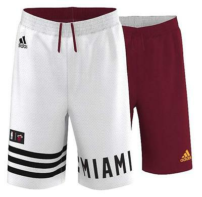 adidas NBA Miami Heat Men's Reversible Mesh 2 in 1 Basketball Shorts (M38237)