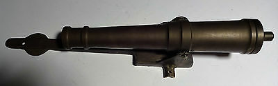 Vintage Large Brass Cannon Door Knocker 13.5 Inches Long 766 Gr.1.12LB NO RESERV
