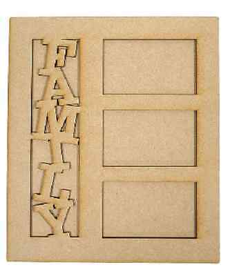 Creative Expressions MDF FAMILY PICTURE FRAME Self Assembly CEMDFFAMFRA