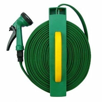 50 foot Flat Hose with Reel & Nozzle - Garden Hose Kit - Hawk - HWK-GT4545