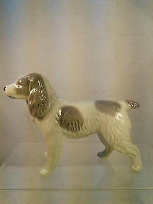 vtg Kyoto Japan English Springer Spaniel Brittney Bird Dog hunter PORCELAIN Dog