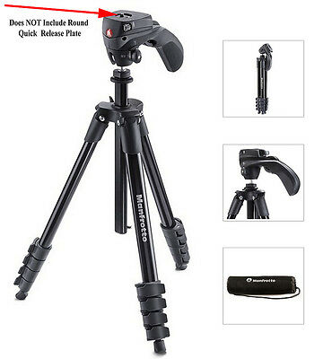 Manfrotto Compact Action Tripod - MKCOMPACTACN-BK - No Quick Release Plate - VG