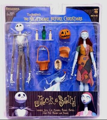 Tim Burtons The Nightmare Before Christmas Jack & Sally figures NEW very Rare