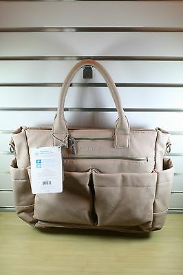 NEW NWT The Honest Company 'Everything' Faux Leather Diaper Bag, Blush; $170