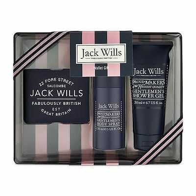 Jack Wills Mens Wallet Gift Tin Set