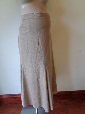 Next Maternity Fine Cord Stone Over Bump Skirt Size 12