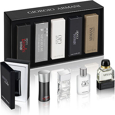 Miniature Collection by Armani For Men 5 Piece Set