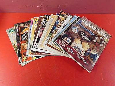 Large Plastic Canvas  Instructional Book Collection Lot Over 20 Books  (#3338)