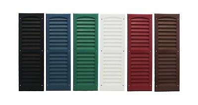 "Shed Shutters 9"" x 27"" One Pair 6 Colors Playhouse Storage Sheds Garages Coops"