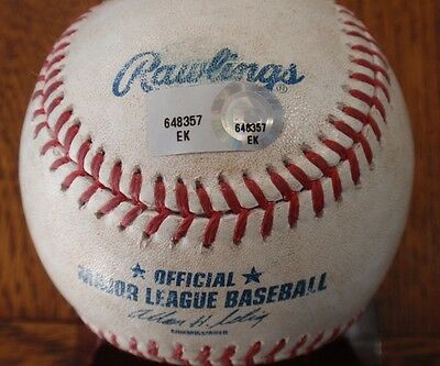 2014 Dodgers Game Used Baseball - Josh Beckett Pitched First Ball of the Game