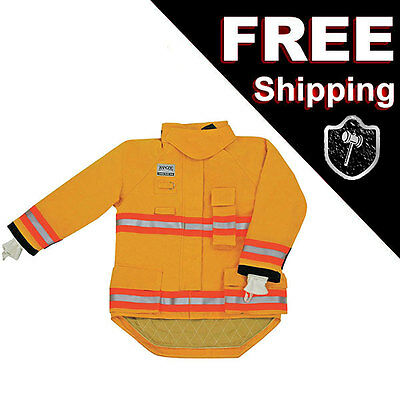 MORNING PRIDE RNG-240D Turnout Fireman Jacket, Yellow, M, 42 in Chest 29-35 Leng