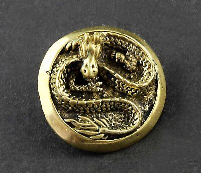 Solid Brass Dragon Concho for Leather Biker Motocylce Wallet ScrewBack