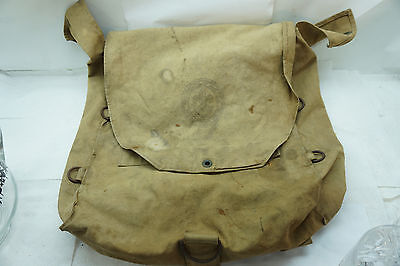Vintage Boy Scout Backpack Knapsack Rucksack Dated 1938 Back Pack Canvas Khaki