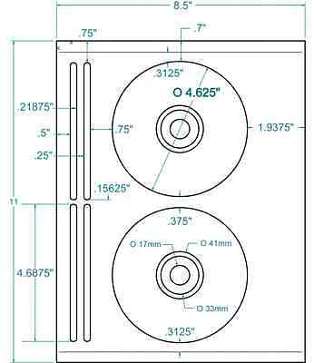 Compulabel 312660 - White CD/DVD 5931 Layout Labels