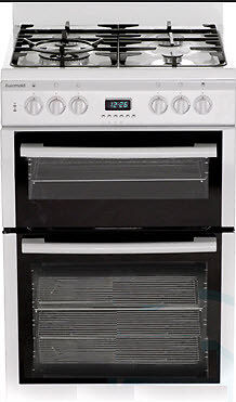 Euromaid - 60cm Freestanding Electric/Gas Oven, White GDDW60
