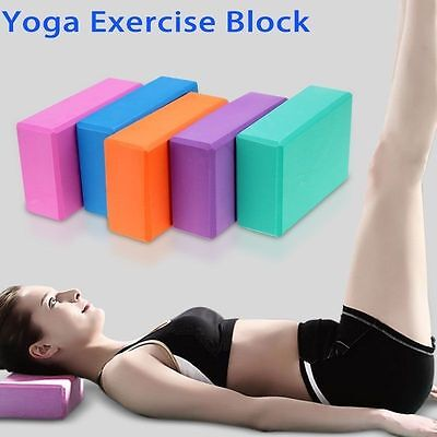Yoga Relaxable Block Foam Brick Stretching Aid Gym Pilates For Fitness Exercise
