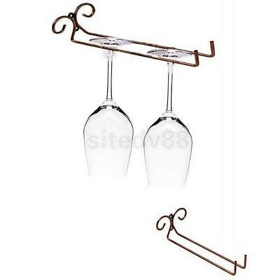 New Side Stand Wine Glass Rack Holder Stemware Shelf Cup Hanging Goblet Rack