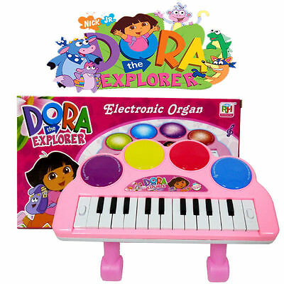 Disney Dora The Explorer Electronic Keyboard Piano Musical Sound Light Kids Toy