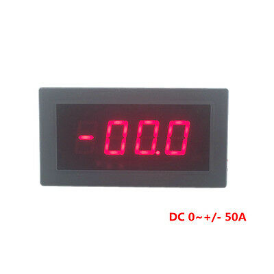 Digital Ammeter Ampere Panel Meter Current Monitor DC 0~+/-50A Red LED Display