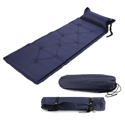 Single Self Inflating Camping Roll Mat Inflatable Camp Bed Sleeping Mattress Pad