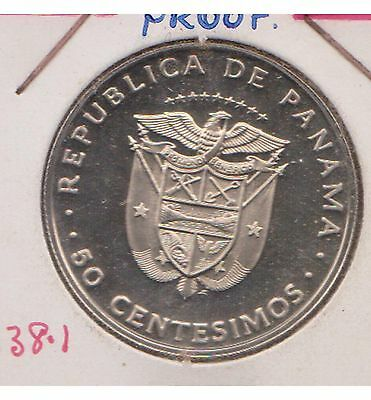 (H23-5) 1975 Panama 50c coin proof of condition