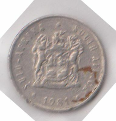 (H23-64) 1981 South Africa 5c coin (C)