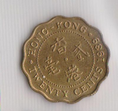 (H22-70) 1989 Hong Kong 20c coin (BS)