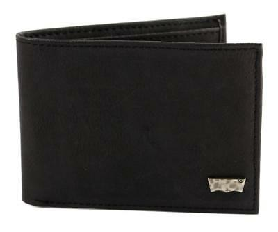 Levi's Classic Leather Bifold Id Credit Card Wallet 31lv13a7 Black