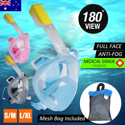 180° Panoramic View Full Face Snorkeling Snorkel Mask Anti Fog GoPro Compatible