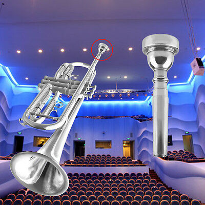 Trumpet Mouthpiece for Bach 3C Size Silver Plated Musical Instrument New WL