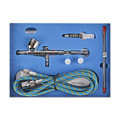 UK Gravity Airbrush Kit Double-Action Trigger - Air Brush Spray Gun Airbrushes