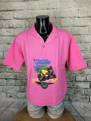 CLIP SOLO Polo The Famous Varaderos Beach Los Angeles USA True Vintage 80s Fluo