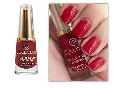 COLLISTAR Nail Lacquer Gel Effect (578 Impulsive Red) 6ml OVP