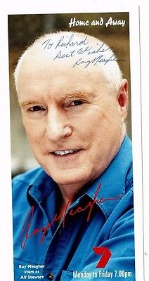 Ray Meagher Actor Home and away Hand Signed C7 Photograph 8 x 4