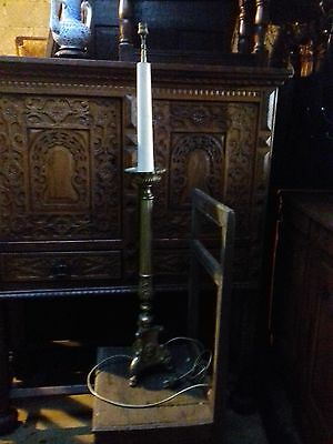 Beautiful Antique French Church Altar Candle Holder Made Into A Tall Lamp