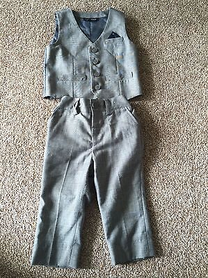 Boys / Child's / Toddlers Next Grey Trousers And Waistcoat 12 - 18 Months