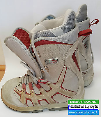 Burton Snow Board / Snow Boarding Boots Uk Size 4 Moto Grey & Red