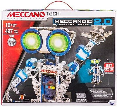 Your Personal 2 feet Tall Meccano Meccanoid 2.0 Features 6 Motors For Realistic