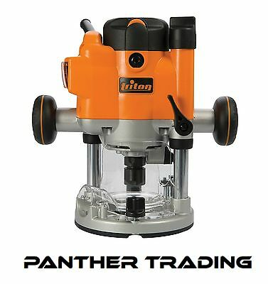 Triton Lightweight Compact Precision Plunge Router 1010W Free-Hand Work - 925837