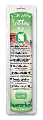 Madeira Cotton Fix Self Adhesive Tearaway Stabiliser 25cm x 3m