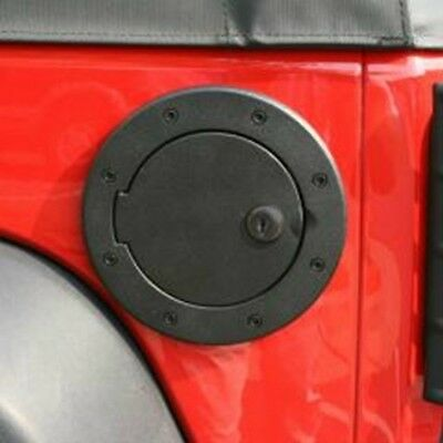 Tankdeckel Blende Alu abschließbar Locking Gas Cap Door Blk Jeep Wrangler JK 07